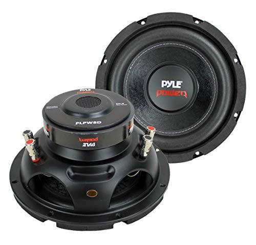 Pyle 8' 1600W DVC 4-Ohm Car Audio Subwoofer Speaker Set, 2pk   PLPW8D