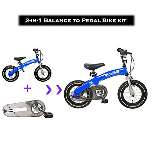Dakoliving 2-in-1 Balance to Pedal Bike | Balance Bike with Pedals Kit | Balance Bikes for 2 3 4 5 6 Year Old Boys and Girls