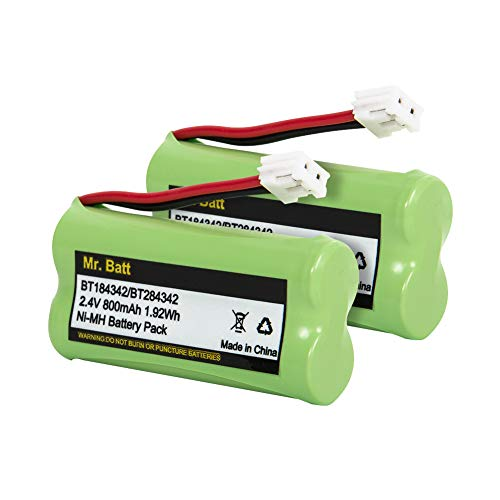 BT18433 BT28433 BT184342 BT284342 BT-1011 Replacement Battery for Vtech Cordless Phone CS6209 CS6219 CS6229 DS6151 AT&T CL80100 CL80109 Uniden DCX400 Handset (2 Pack)