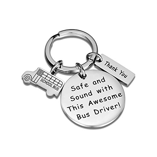 CJ&M Bus Driver Keychain, Bus Driver Gift, Gifts for A Bus Driver, School Bus Charm, Bus Driver Appreciation Gift
