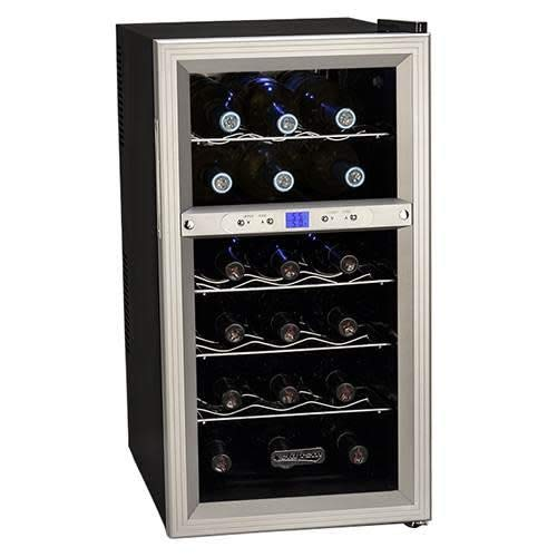 Koldfront TWR181ES 18 Bottle Dual Zone Freestanding Thermoelectric Wine Cooler