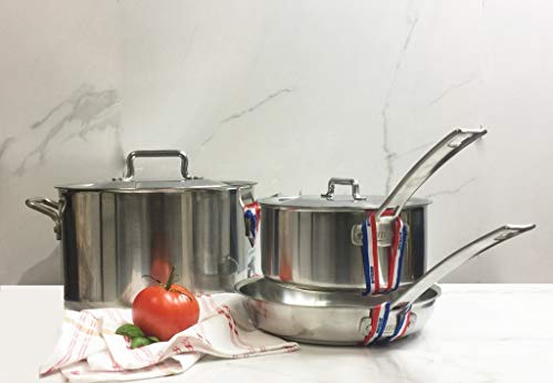 Sitram Horeca R 5 Piece Cookware Set, Stainless Steel