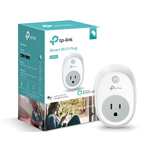 Kasa Smart (HS100) Plug by TP-Link, Smart Home WiFi Outlet Works with Alexa, Echo, Google Home & IFTTT, No Hub Required, Remote Control, 15 Amp, UL Certified, 1-Pack , white
