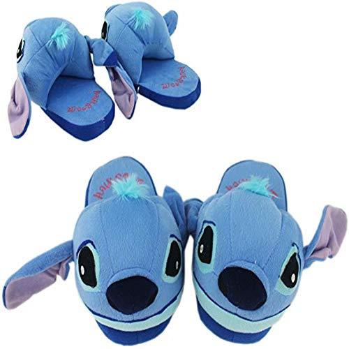 ElevenGem Stitch Slippers Plush Winter Indoor Unisex Shoes