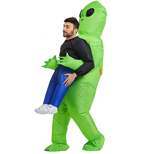 TOLOCO Inflatable Costume | Inflatable Alien Rider Costumes for Adults Or Child | Halloween Costume Cosplay Party (Adult)