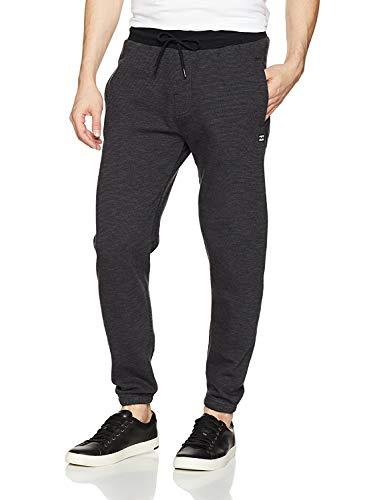 Billabong Men's Classic Fleece Pant, Black Heather, L