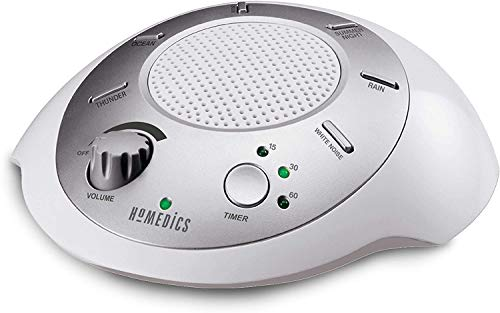 HoMedics White Noise Sound Machine   Portable Sleep Therapy for Home, Office, Baby & Travel   6 Relaxing & Soothing Nature Sounds, Battery or Adapter Charging Options, Auto-Off Timer Sound Spa