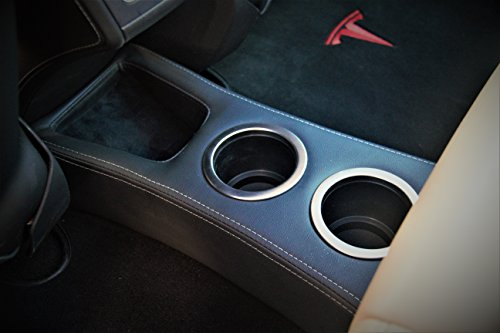 EVamped Rear Cup Holder-Floor Console for Tesla Model S,'Insane Model w Dual USB