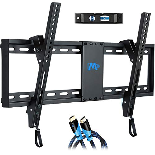 Mounting Dream UL Listed TV Mount for Most 37-70 Inches TVs, Universal Tilt TV Wall Mount Fits 16', 18', 24' Studs with Loading 132 lbs & Max VESA 600x400mm,Low Profile Wall Mount Bracket MD2268-LK