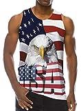 Goodstoworld Mens 3D Patriotic USA Flag Tank Tops Animal Independent Day Printed Tees Teen Boys Holiday Beach Sleeveless Shirt Novelty 4 July T Shirts L