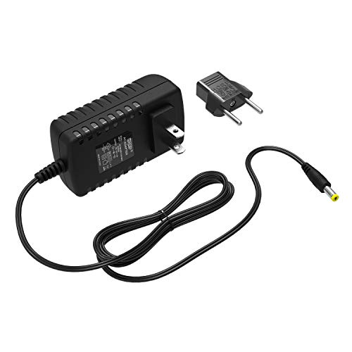 HQRP AC Adapter Compatible with Pro-Form 510E Elliptical PFEL05811 PFEL058110 Power Supply Cord [UL Listed] + Euro Plug Adapter