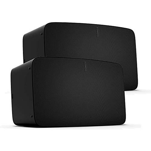 Sonos Five Two Room Set - The high-Fidelity Speaker for Superior Sound (Black)