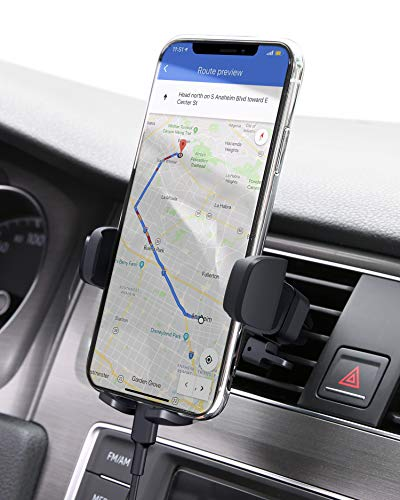 AUKEY Car Phone Mount Air Vent Phone Holder for Car Compatible with iPhone 11 Pro/11 /Xs/8/7/6, Galaxy S10/S10+/S9/S9+, Note 10,LG,Huawei,Pixel and Other