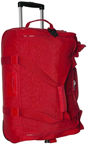 Kipling Discover Small Wheeled Duffle, Telescoping Handle, Zip Closure, cherry tonal, One Size