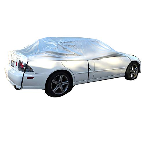 Car Windshield Full Top Covers Back and Front No More Scraping Snow, Ice, Leaves Keeps Your Car Cool from Harsh Sun - Fits Small to Mid-Sized Vehicles