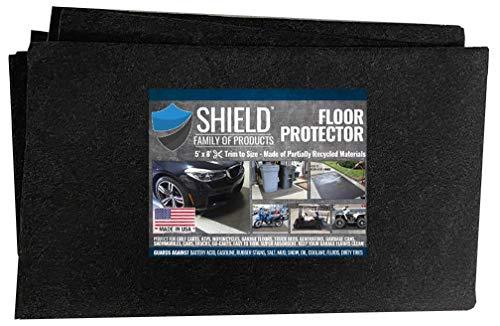 Shield Family Floor Protector - Premium Absorbent Oil Mat – Reusable/Durable/Waterproof – Protects Garage Floor Surface – Garage Shop Mat – Floor Mat for Golf Carts, ATV's, Motorcycles - 5ftx8ft
