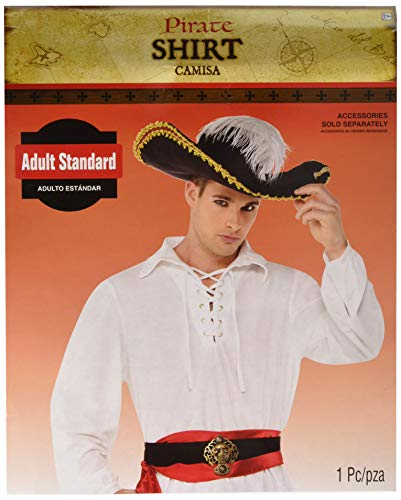 AMSCAN Pirate Halloween Shirt for Men, One Size