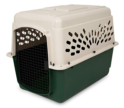 Petmate 21796 Ruffmaxx Travel Carrier Outdoor Dog Kennel, 360° Ventilation, 40', Multi