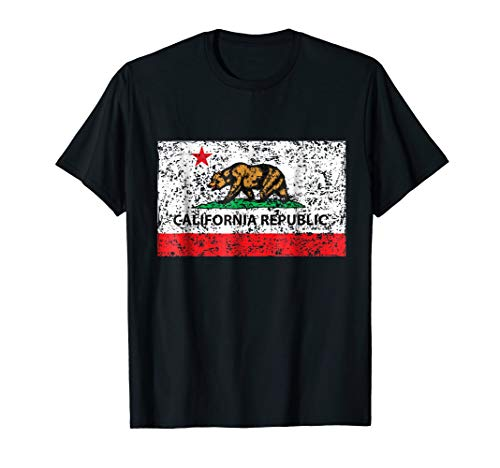 California Republic Cali Flag T-Shirt Socal Norcal Cencal T