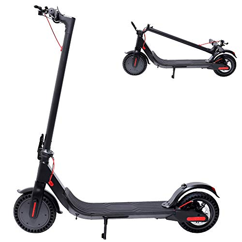 Electric Scooter, 350W Motor Adult Electric Scooter with 8.5' Tires LED Headlight & Display, Up to 15.5 MPH Folding Electric Scooter Hoverboard for Commute and Travel