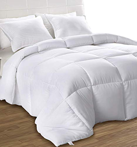 Utopia Bedding Down Alternative Comforter (Full, White) - All Season Comforter - Plush Siliconized Fiberfill Duvet Insert - Box Stitched