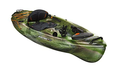 Pelican Kayak BASSCREEK 100XP Sit-On-Top Fishing Kayak Kayak 10 Feet Lightweight One Person Kayak Perfect for Fishing