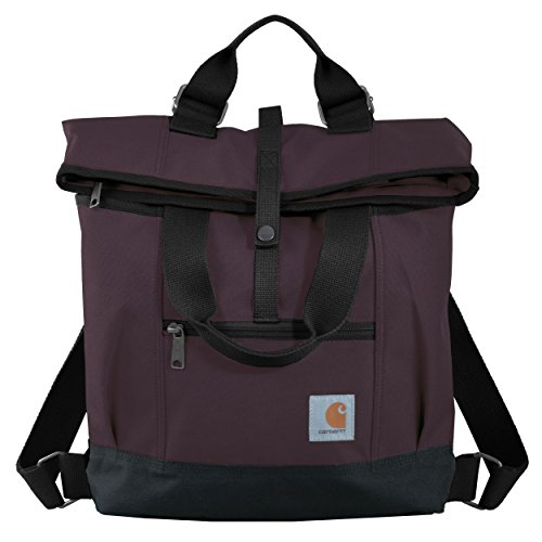 Carhartt Legacy Women's Hybrid Convertible Backpack Tote Bag, Wine