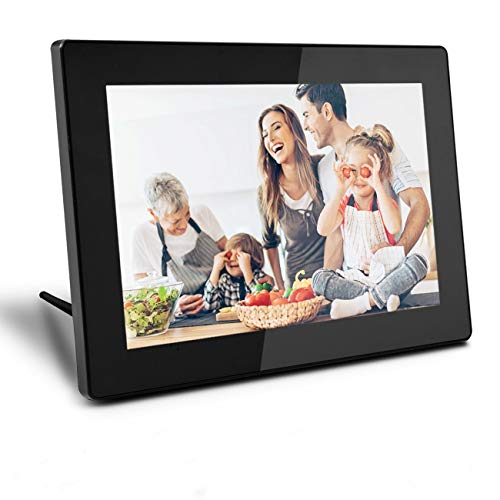 Digital Picture Frame WiFi Cloud Digital Photo Frame 10 Inch WiFi Picture Frame IPS Screen with Touch 16GB Storage Auto Rotate Share Photos Visa APP Email Facebook Twitter