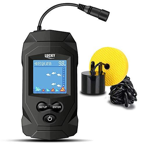 LUCKY Fish Finder Portable Fish Finder Fish Detector Handheld Depth Finder for Kayak Jon Boat Canoe Fish Finder for ice Fishing Tackle