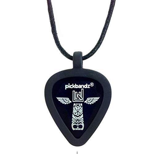 Pickbandz Necklace Silicone Guitar Pick Holder in Epic Black - Fits All - A Perfect Gift - Fully Guaranteed - Rock What You Love With Pickbandz