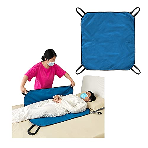 Transfer Board Slide Patient Lift Transfer Belts Lifting Seniors Disabled Positioning Pad Draw Sheet Hospital Bed Pads with Handles for Turning, Lifting & Repositioning (39' X 36')