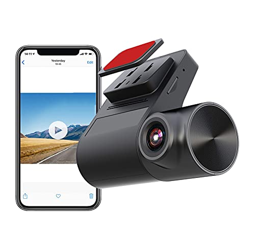 Smart HDR/WDR Dash Cam WiFi HD Car Dash Camera Driving Recorder with Star Night Vision, Wide Angle, Loop Recording, Both iOS/Android Compatible