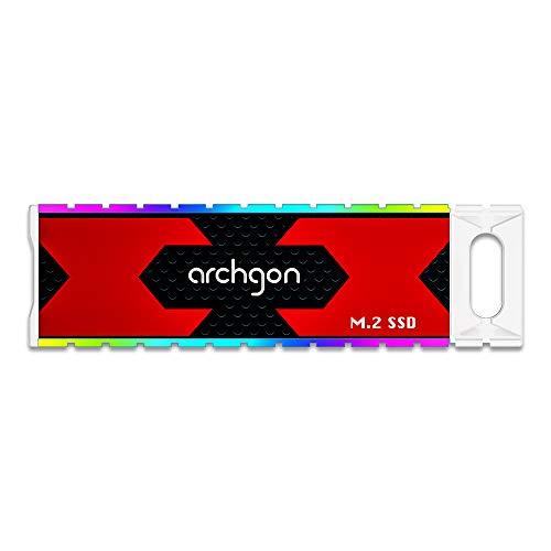 Archgon USB 3.1 Gen.2 Gaming RGB External SSD Drive Portable Solid State Drive Model G702CW (1TB)