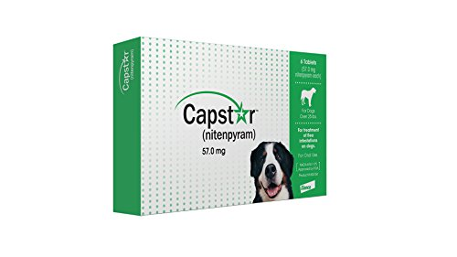 Capstar Fast-Acting Oral Flea Treatment for Large Dogs, 6 Doses, 25.1 – 125 lbs (Previous Packaging)