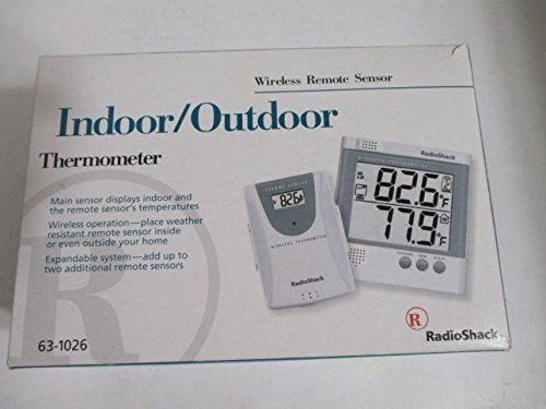 Radio Shack Indoor/Outdoor Thermometer with Wireless Remote Sensor 63-1026