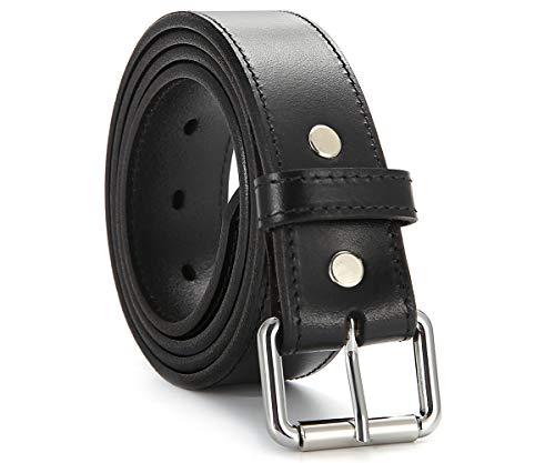 Leather Gun Belt Full Grain Leather Cealed Carry CCW/IWB Belts (34 for 30' Waist, Black)