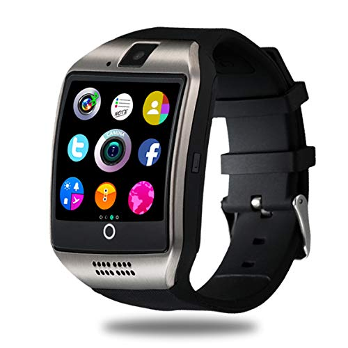 CNPGD Smart Watch for Android Phones Samsung iPhone Compatible Quad Band Unlocked Watch Cell Phone Touch Screen Fitness Tracker Pedometer Sleep Monitor for Men and Women