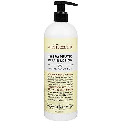 Adamia Therapeutic Repair Lotion with Macadamia Nut Oil and Promega-7, Fragrance Free, Paraben Free, Non GMO, 16 Fl Oz (355337-BC00395319)