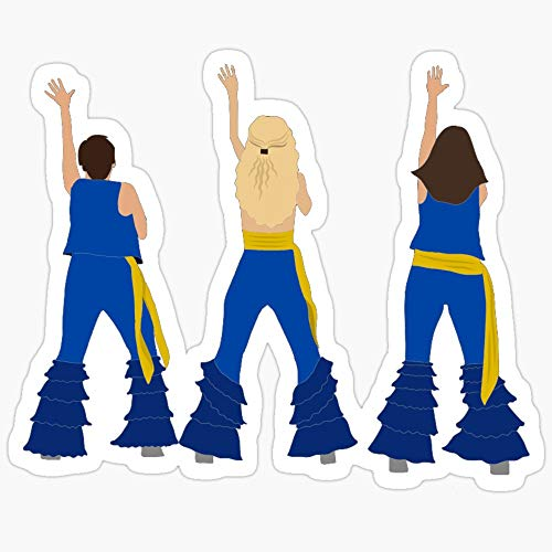 BeliNZStore Donna and The Dynamos - Mamma Mia Here We Go Again Stickers (3 Pcs/Pack)