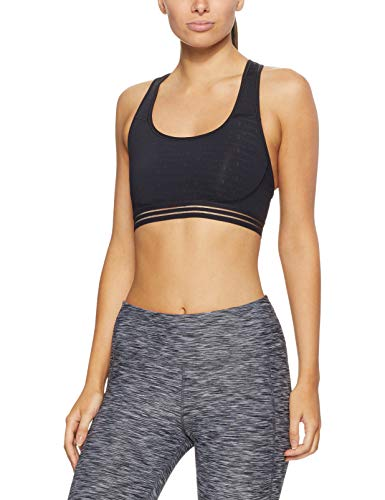Champion Women's Absolute Workout Sports Bra Bra, champion Script/Black, Large