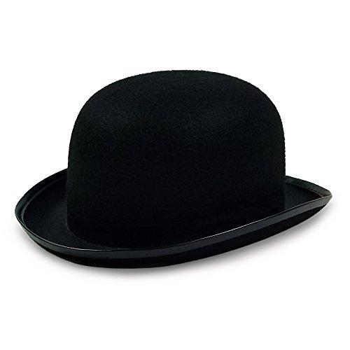 Derby Hat - Bowler Hat – Black for Men Women Boys and Girls Vintage Costumes