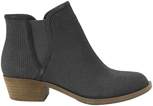 kensie Womens GERONA Ankle Boot, Dark Grey, 7 M US