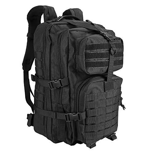 ProCase Tactical Backpack 42L Large Rucksack 3 Day Outdoor Military Army Assault Pack Go Bag Backpacks -Black
