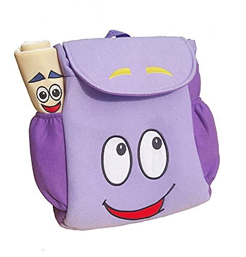 Dora Explorer Backpack Rescue Bag with Map,Pre-Kindergarten Toys Purple Zhicheng