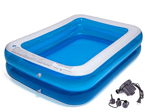 CHICLIST Inflatable Swimming Pool (79x59x20in for 1-3 Kids) Kiddie Pools Family Swim Center for Kids Inflatable Lounge Pool for Kiddie, Kids, Easy Set Swimming Pool for Backyard Summer Water Party
