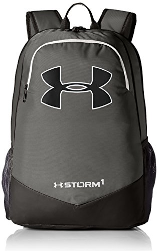 Under Armour Boy's Storm Scrimmage Backpack, Graphite (040)/White, One Size Fits All