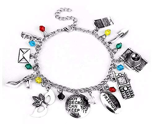 Pretty Little Liars (10 Themed Charms) Assorted Metal Charm Bracelet