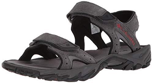 Columbia Men's SANTIAM 2 Strap Sport Sandal, Dark Grey, Rusty, 11 Regular US
