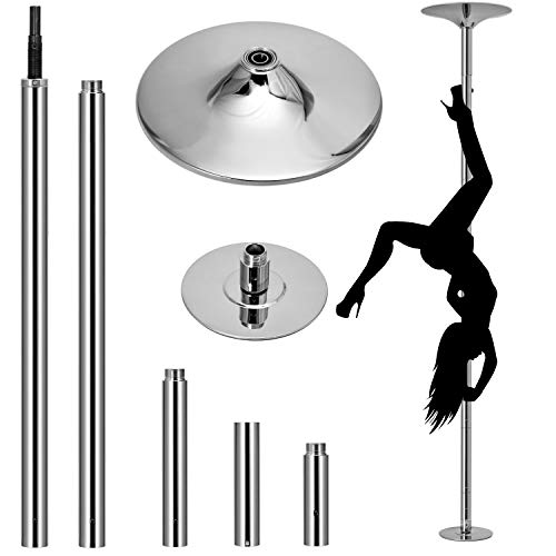 OFCOSO Professional Dancing Pole 45mm Stripper Pole Portable Removable Stripper Pole Dance Kit Adjustable Height Spinning Pole for Exercise Club Party Pub Home