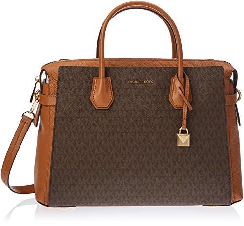 Michael Kors Mercer Logo Ladies Small Brown Leather Satchel Bag 30S9GM9S1B200